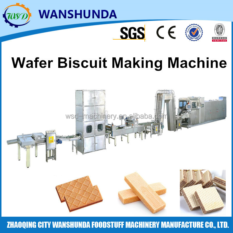 2016 New design automatic production line for wafer food