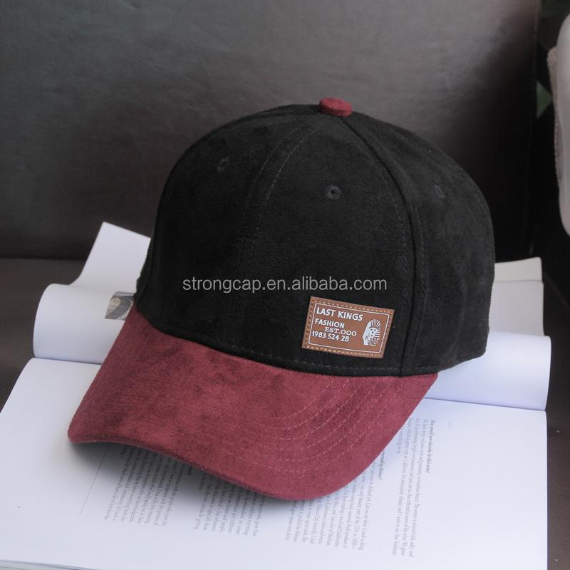 01c726ce5b8ed Custom Logo Suede Dad Cap