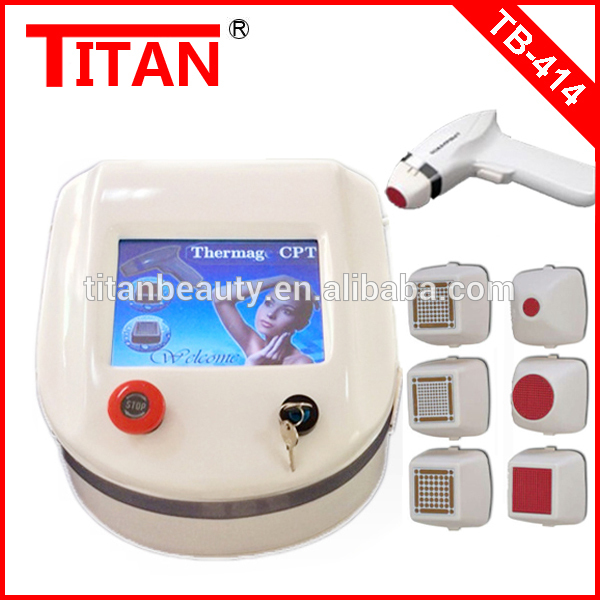 TB-414 Titan Beauty!!! Thermagic Face Beauty Skin Tightening Machine / Cheapest Portable Thermagic CPT Skin Care Tools