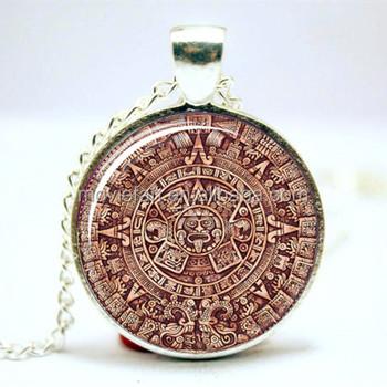 Mayan calendar necklace aztec calendar pendant glass photo cabochon mayan calendar necklace aztec calendar pendant glass photo cabochon necklace aloadofball Images