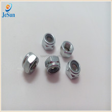 Nylon Insert Lock Nut White Zinc Plated Hex Nut For Fitting
