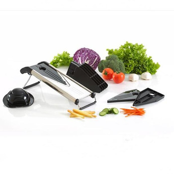 Multifunctional adjustable peeler v-blade foldable vegetable slicer / mandolin slicer/v slicer
