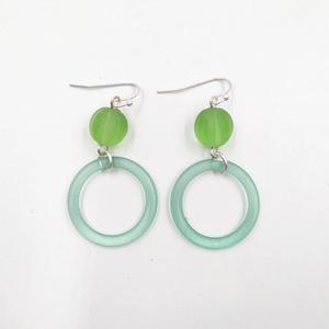 Factory direct selling selling fashion round resin plastic acrylic korean earring jewelry
