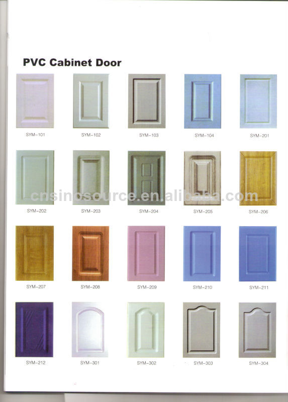 Personalizado pvc mdf muebles de cocina gabinetes de for Gabinetes de cocina en mdf