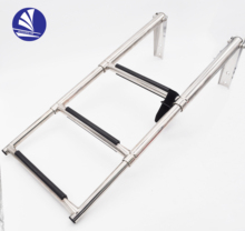 Rvs 316/304 telescopische boot <span class=keywords><strong>ladder</strong></span>, stap <span class=keywords><strong>ladder</strong></span>