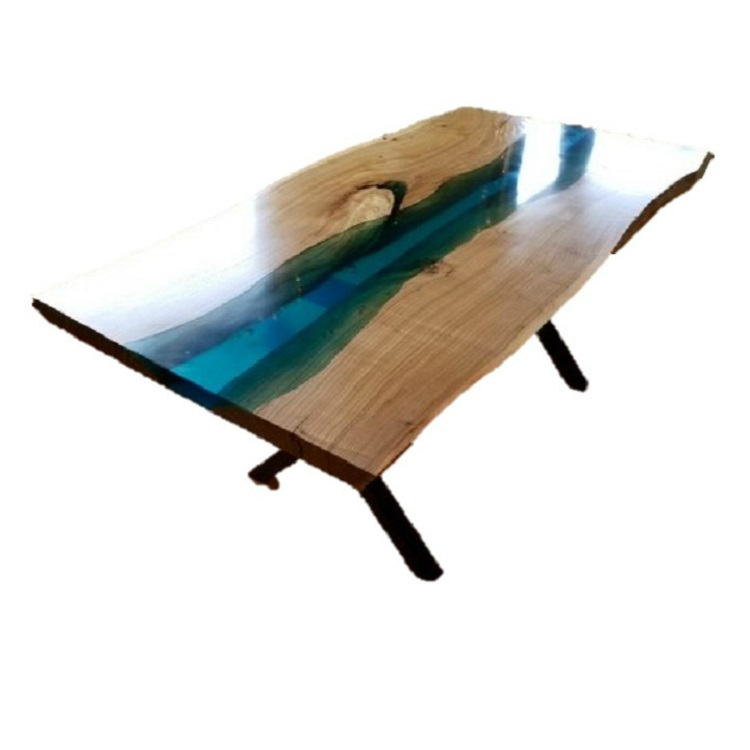 China Whole Customized Epoxy Resin Table Dinner Coffee Garden Glowing In Dark Wood