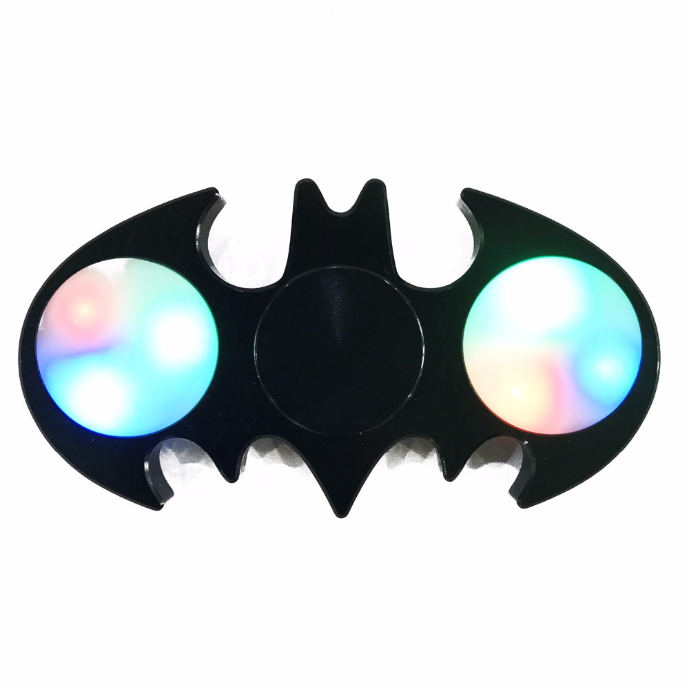 2017 newest wholesale led Aluminum Ceramic hybrid fidget spinner hand toy Release Stress EDC Tri fidget spinner