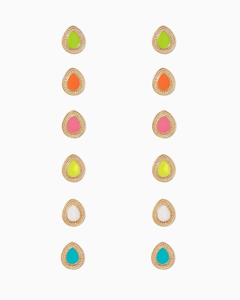 E080 Custom Design Earring Enamel Teardrop Shaped Stud Earring