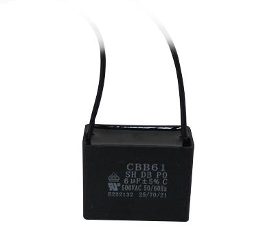 Carte de Source Cbb61/Run Condensateur 450/V AC 6uf 2/C/âble Film polypropyl/ène m/étallis/é condensateurs pour Ventilateur de Plafond