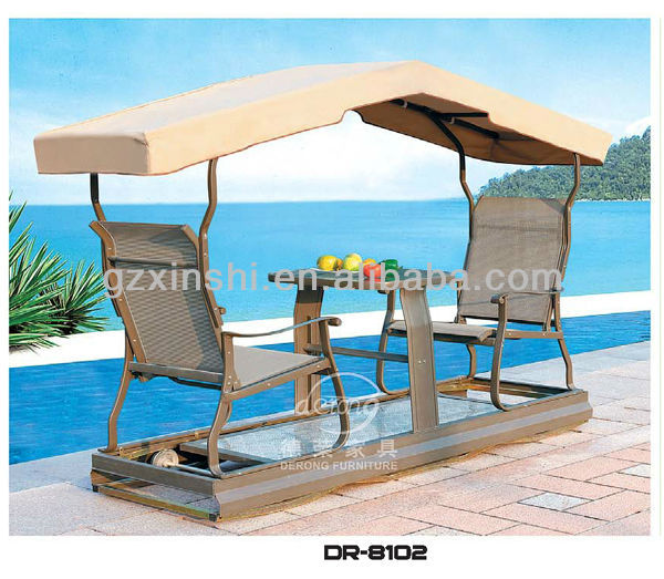 Garden aluminium swing chair