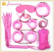 furry PU PVC female male fetish bdsm restraint leather bondage kit 7 for adult sex toy