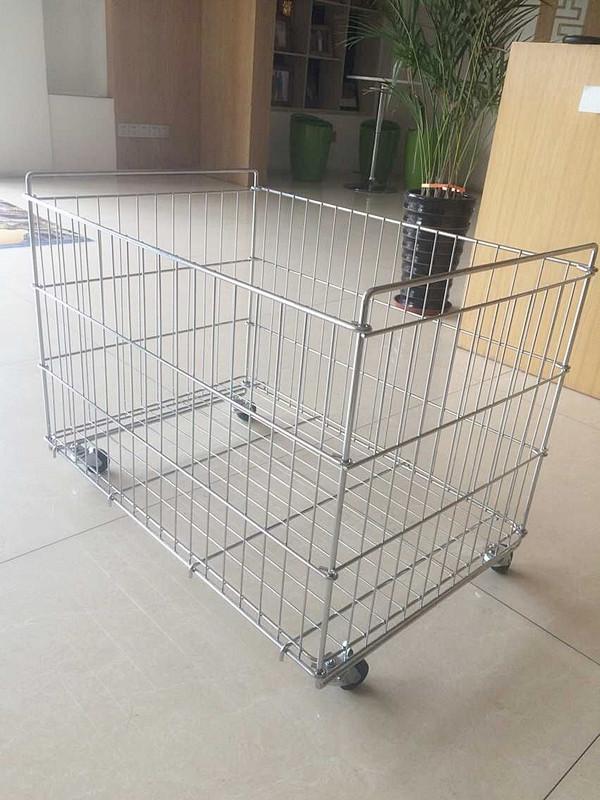 Metal Wire Bin Storage Cage/rack/basket For Supermarket - Buy ...