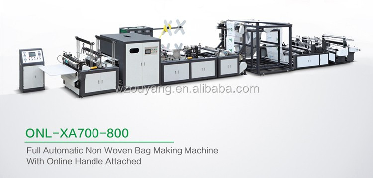 Our own factory to produce ONL-XA700/800 non woven bag making machine price make different bags