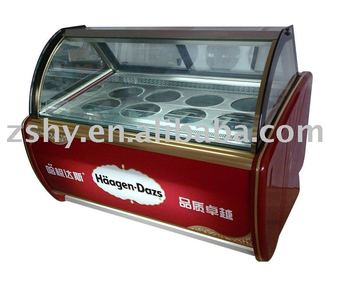 Ice cream showcase (Haagen-Dazs)