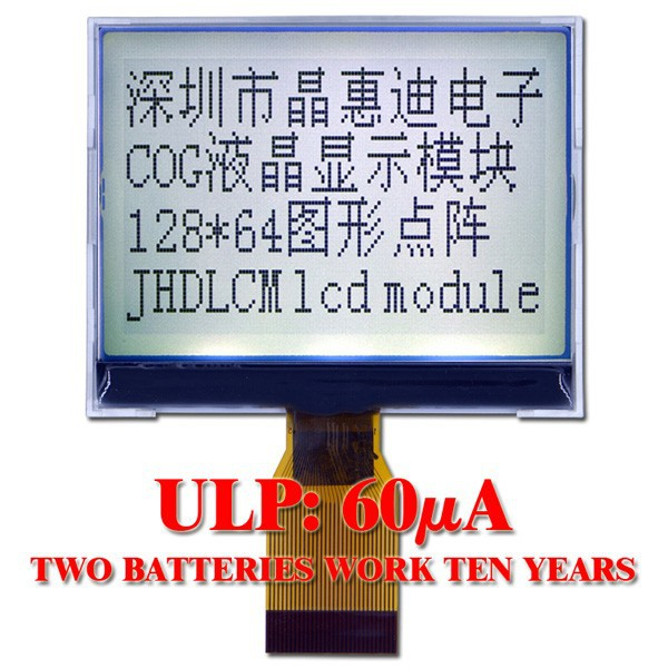 low power consumption graphic type lcd module JHD12864-G906BSW-G
