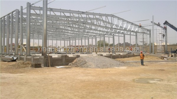 light weight rigid structural steel warehouse shed fabrication projects