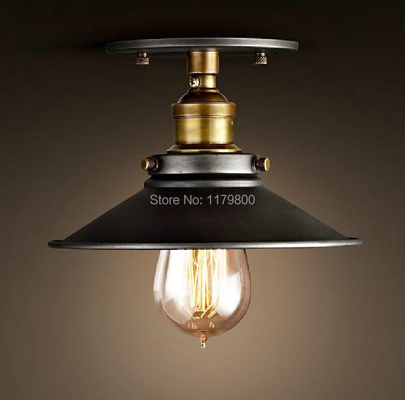 Vintage Industrial Shop Light: Vintage Industrial Retro Style Metal Ceiling Mount Lamp