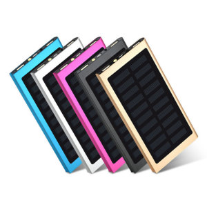 2018 New 20000 Mah Solar Power Bank External Battery Solar Charger For Apple Power Bank with dual USB