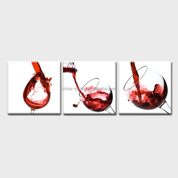 Red Wine Canvas Prints Premium Artist Canvas Modern Home Dinning Room And  Bar Interior Decor