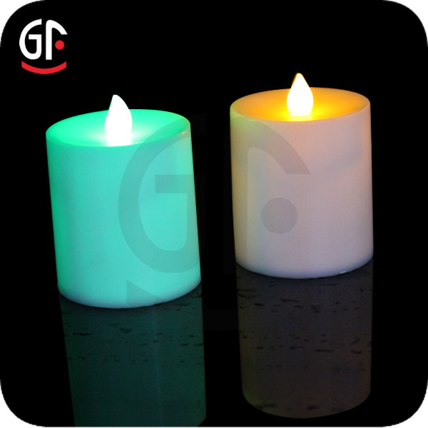 Party Decoration Green Light Glitter Led Candles