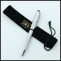 Luxury Metal promotional gift pen with vintage ball pen with drawstring velvet bag