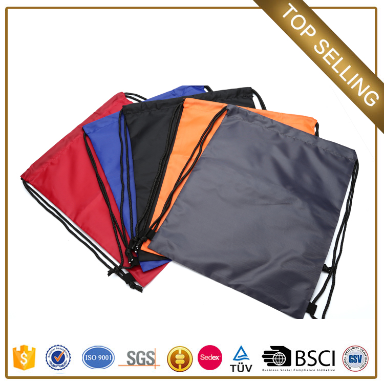 Chinese wholesale customize promotional canvas multi-color drawstring waterproof bag for youth