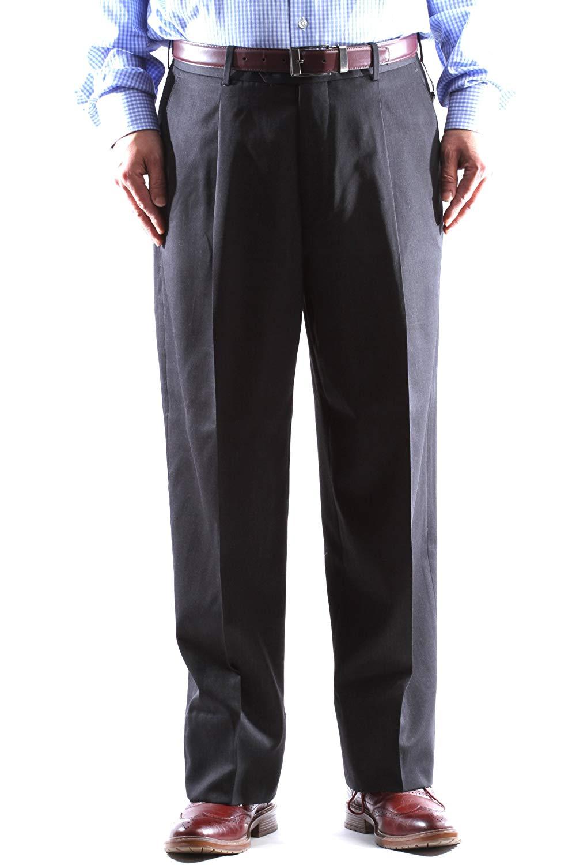 73f937a3 Kirkland Signature Mens Italian Wool Pleated Dress Slacks - raveitsafe