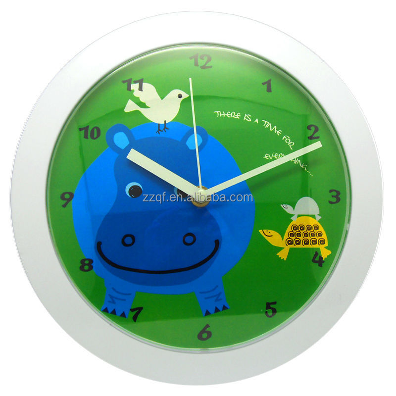 10 inch promotional plastic clock baby room wall decor