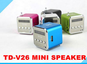 TD-V26 Portable Mini Digital Speaker soundbox boombox for MP3 MP4 PC,Support Radio, USB, TF/SD Card