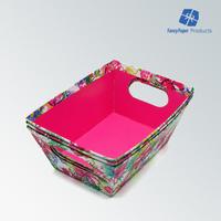 Flower Pringting Cardboard Tray Paper Plate Storage