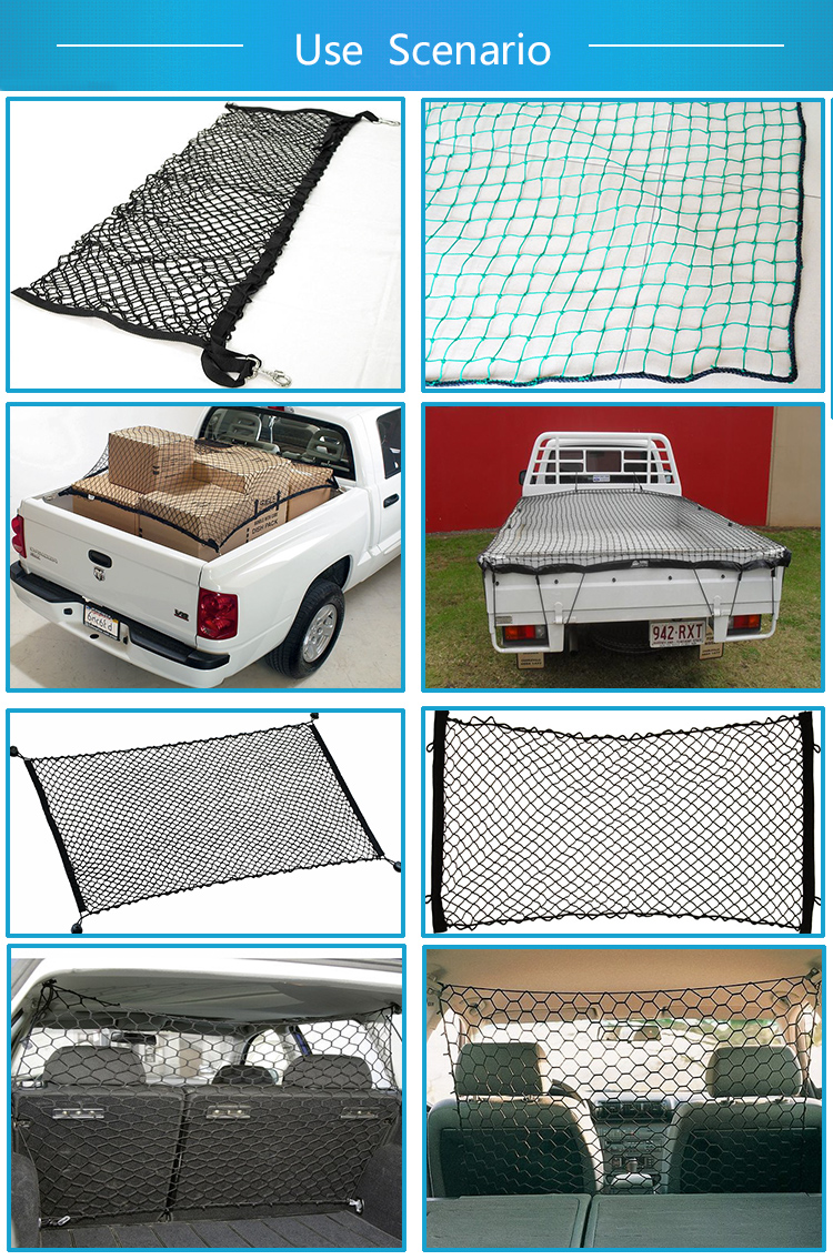 outdoor safety polyester HDPE or nylon car container webbing lifting cargo net
