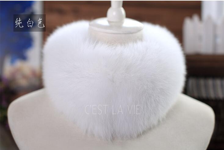 Hot selling fox fur scarf muffler scarf fox fur collar fur scarf long design clip autumn
