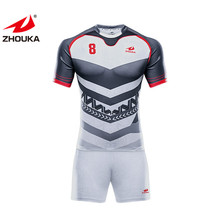 Custom <span class=keywords><strong>Rugby</strong></span> Football Wear <span class=keywords><strong>Kit</strong></span> 100% Polyester <span class=keywords><strong>Rugby</strong></span> Jersey