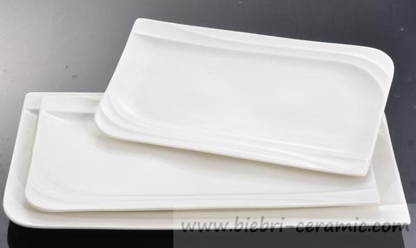 Plain White Modern Custom Logo Decal Decorative Porcelain Plates ...
