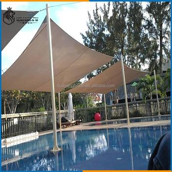 Piscine Triangulaire Voile Du0027ombrage, Jardin Pare Soleil En Tissu