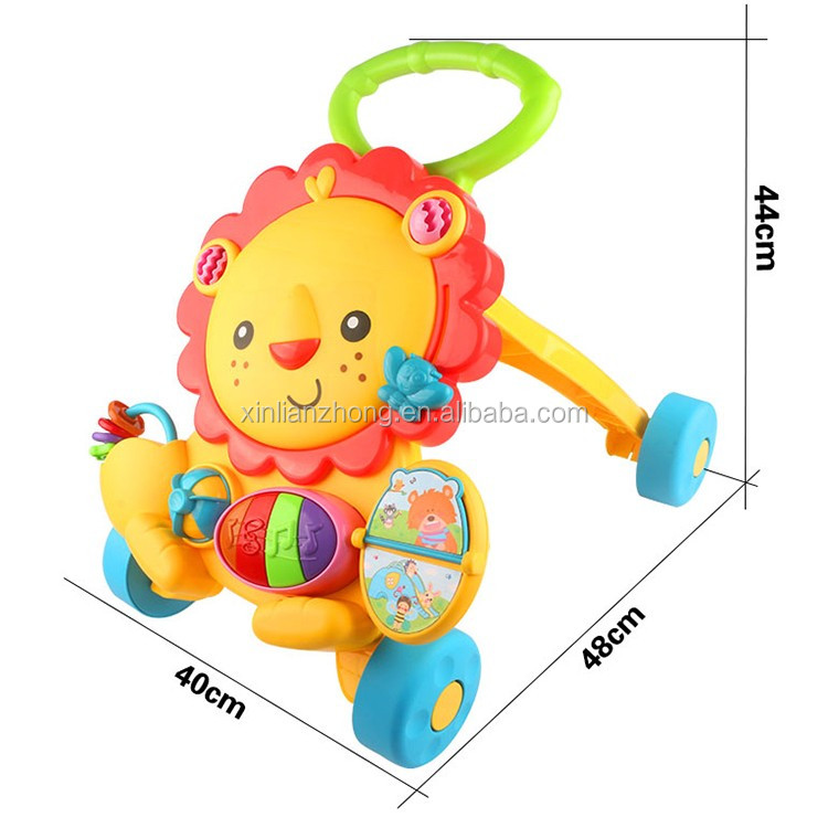 Hotselling baby walker Musical Lion Walker Sit & Play or Stand & Walk