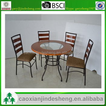 Dining Room Furniture Metal Frame Marble/MDF/ Glass Top, Powder Coat Dining  Table