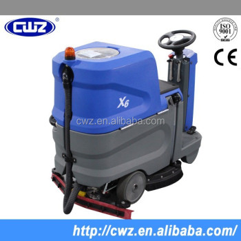 Vacuum Motor Big Water Tank Ride On Floor Scrubber