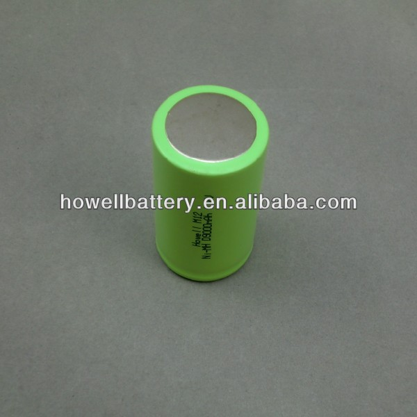 Ni-MH rechargeable battery D9000mah 1.2v for industry area