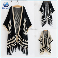 Tassel Poncho/Wrap Drape Sweater