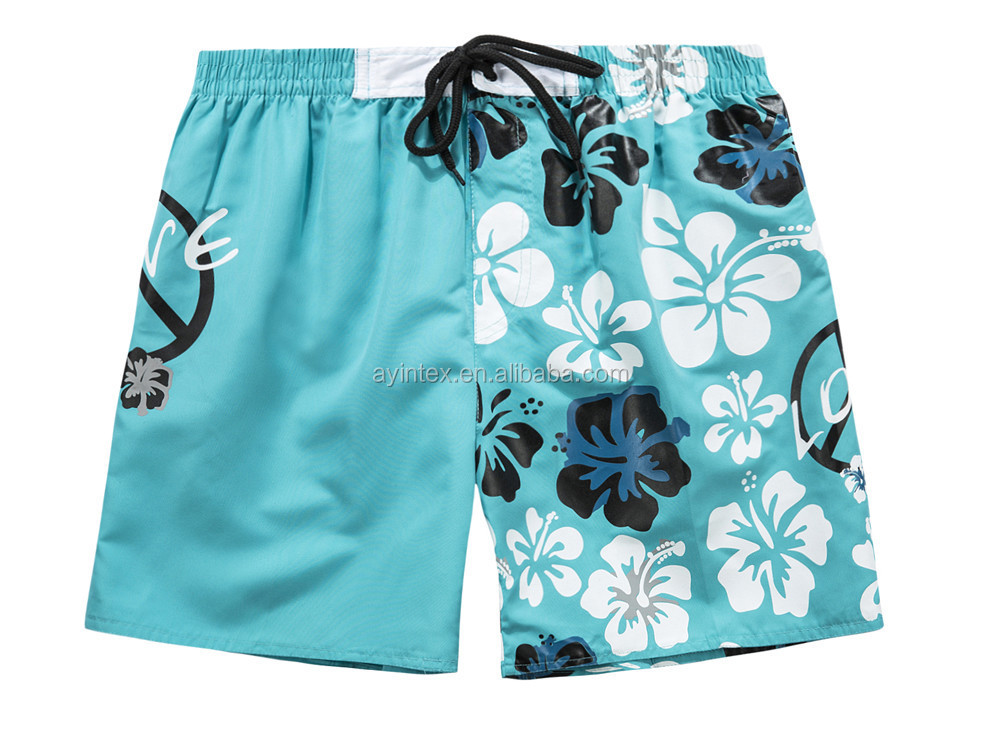 OEM Customized shaped boy swim shorts peach skin 100% polyester