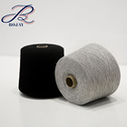 High Quality 100% Cotton Yarn Ne 24/1 Carded with Black Color for Knitting machine use