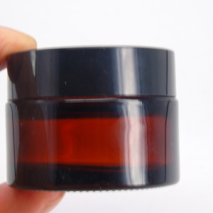 50ml amber glass jar 50g cosmetic jar container for skin care cream