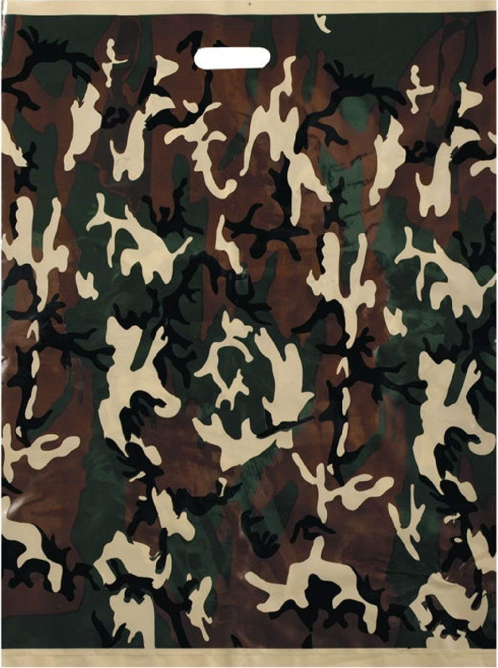 "50 Pack - Camouflage Super Deluxe X-Large Plastic Shopping Bags 18"" x 24"""