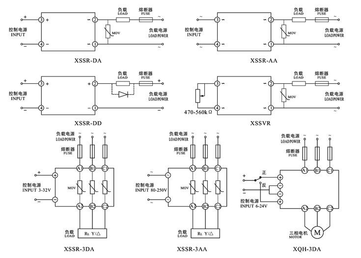 Zero Crossing Type Ac Solid State Relay Symbol Ssr40da Factory