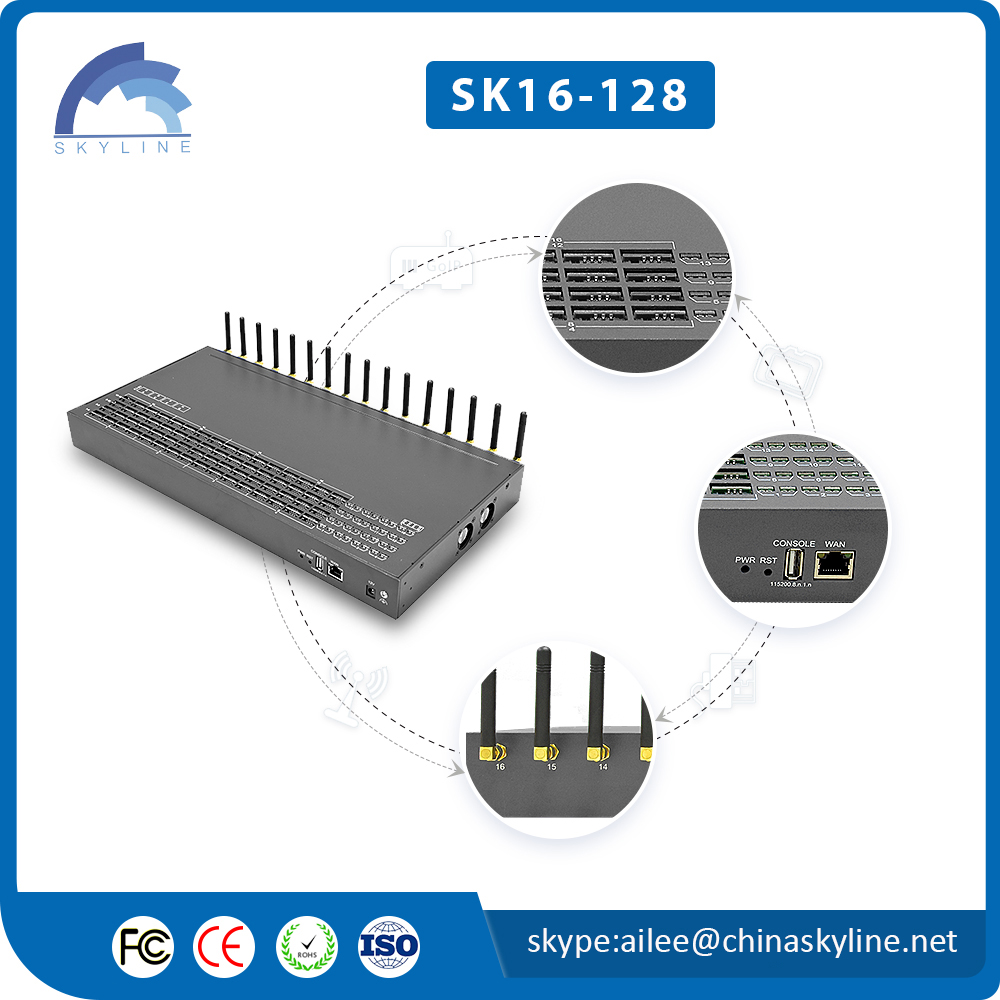 Hot sale SK  32 ports 128 sim cards GSM  gateway CALL TERMINATION