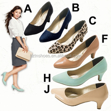 All matching ballerina court shoes swallow mouth high heels pumps shoe comfortable office ladies work shoes