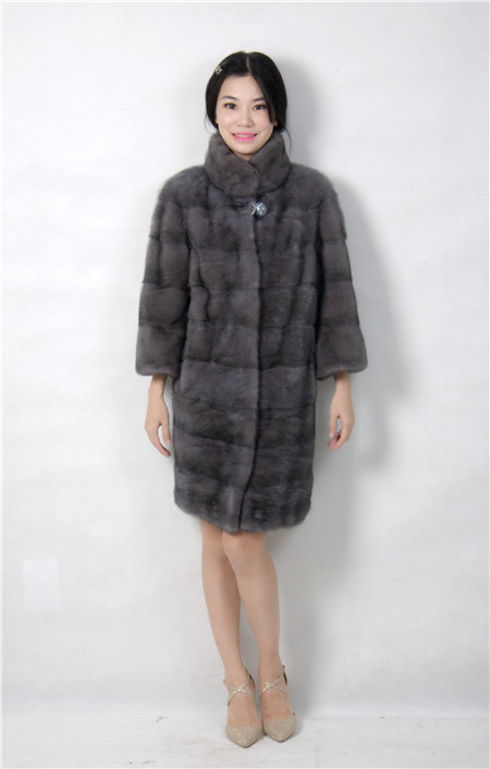 2015 font b winter b font woman fashion real mink fur X LONG real mink coat