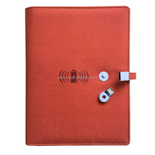 Neue design wireless power notebook ändern farbe PU A5 organizer mit USB und wireless power
