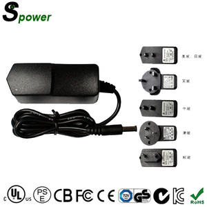 CE FCC CB TUV GS Certified AC Adapter 10 Volt 1A Power Supply with US/UK/KR/AU plug